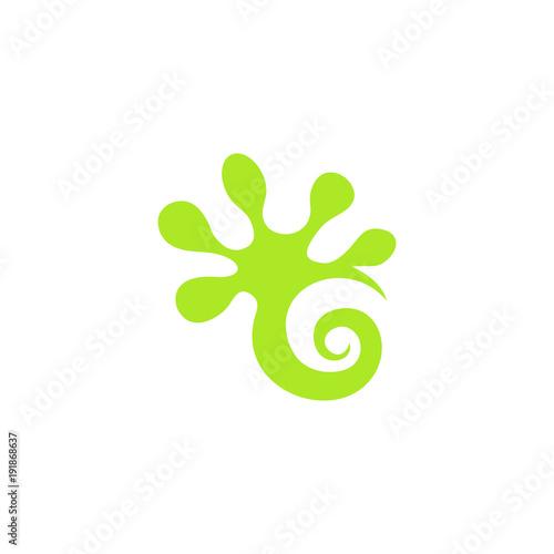 Gecko logo wektor graficzny projekt streszczenie pobrania