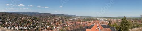Papiers peints Photos panoramiques Blick auf den Brocken und Wernigerode