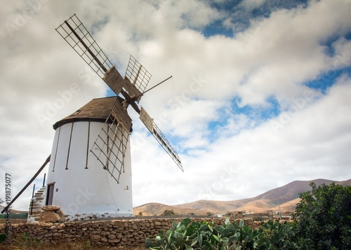 Tuinposter Canarische Eilanden Windmill - Fuerteventura, Canary Islands, Spain
