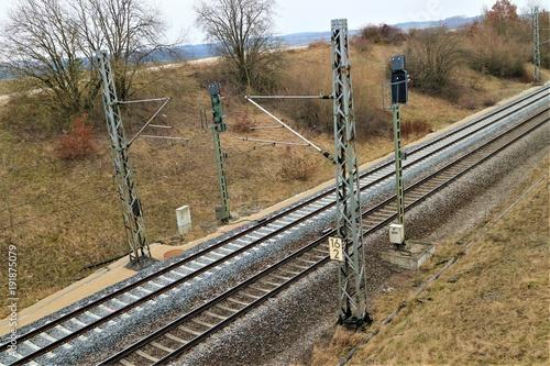 Papiers peints Voies ferrées Bahnstrecke/ Zugverkehr