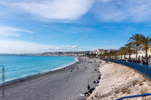 Foto op Aluminium Nice view of the beach, Nice, France