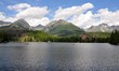 panoramic view, Strbske lake, mountains High Tatras,Slovakia, Europe