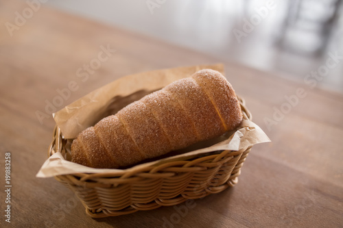 Baked trdelnik. Traditional czech food. Delicious bakery pastry food