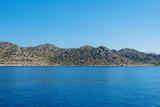 Sea, near ruins of the ancient city on the Kekova island, Turkey - 191886875
