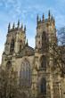 York Minster in early spring sunshine, City of York, UK