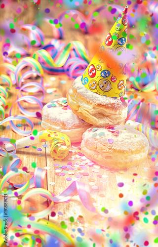 Fasching Karneval Pfannkuchen