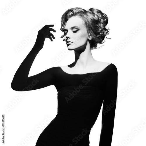 Fotobehang womenART Surrealistic portrait of young lady