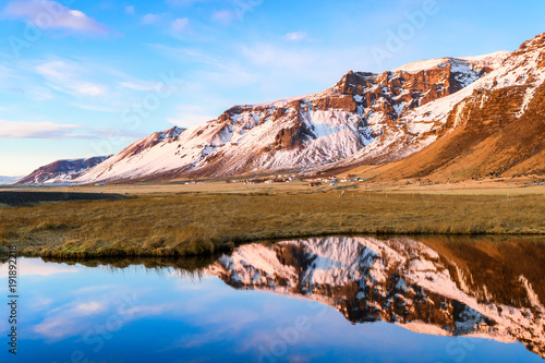 Fotobehang Landschappen amazing countryside landscape of iceland