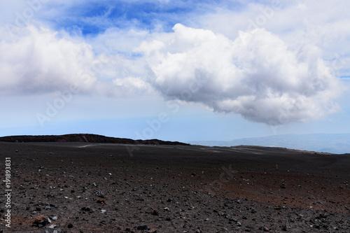 Fotobehang Zwart Etna, Sycylia, Włochy