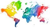 Welt Atlas Aquarell Farben