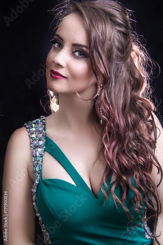 Fotobehang Kapsalon Fashion make-up & hairstyle