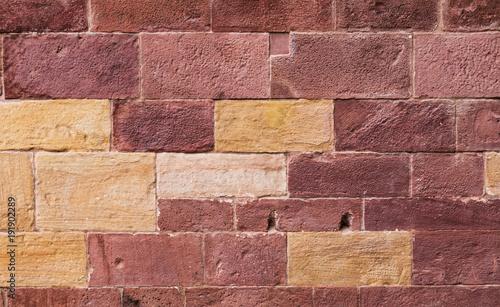 Foto op Plexiglas Baksteen muur Quadermauerwerk