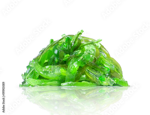 Keuken foto achterwand Sushi bar Pile of seaweed close-up on a white background