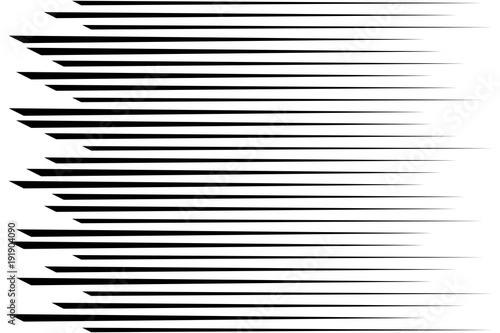 Horizontal speed lines for comic books. Abstract background. Vec - 191904090