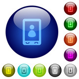 Mobile user profile color glass buttons - 191905076