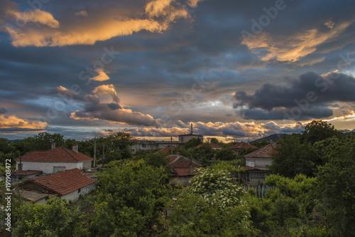 Foto op Aluminium Cyprus Sunset time at Gavrailovo village