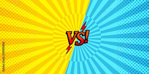 Comic versus horizontal background