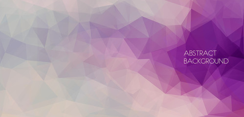 Flat abstract polygonal banner. Vector Background