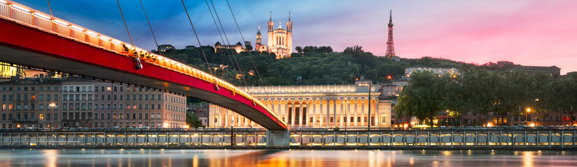 Saone river Lyon, France.