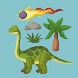Dinosaurs extinction cartoons icon vector illustration graphic design - 191921287