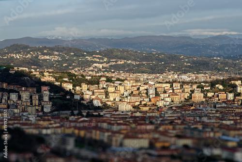 Poster Liguria aerial view of la spezia