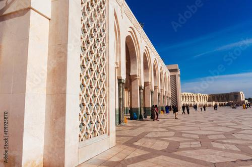 In de dag Marokko Hassan II Mosque in Casablanca
