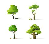 Polygonal trees, mod...