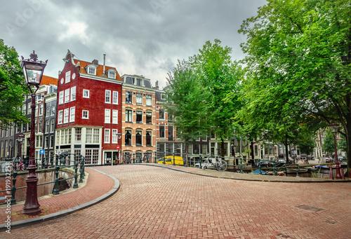 Deurstickers Amsterdam Canal in Amsterdam