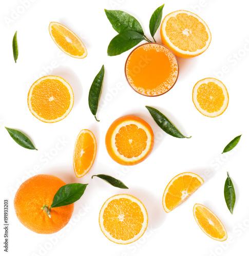 Fotobehang Sap Orange slices for juice.