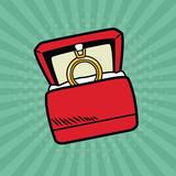 Wedding ring pop art vector illustration graphic design Weedingd people - 191938473