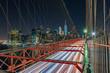 View of  Manhattan Skyline from Brooklyn Bridge