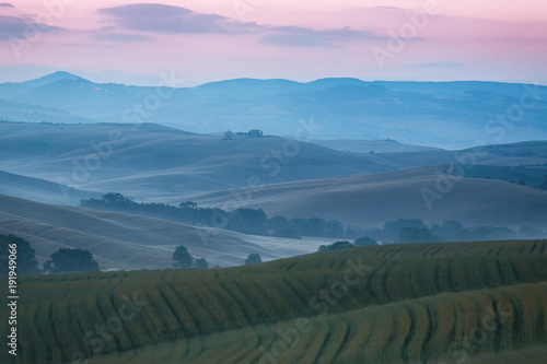 Tuinposter Toscane Hilly landscape of Tuscany