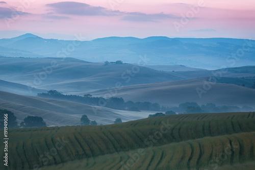 Foto op Aluminium Toscane Hilly landscape of Tuscany