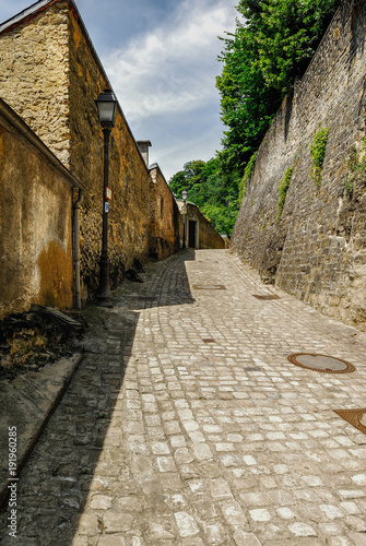 Foto op Canvas Smal steegje Luxembourg city capital