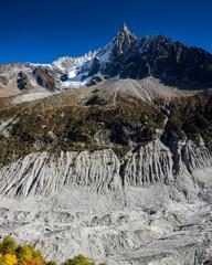 Abgeschmolzener Gletscher - Mont Blanc Massiv