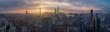 Quadro Shanghai Skyline at Sunrise. Panoramic Aerial View.