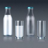 Realistic glass bott...