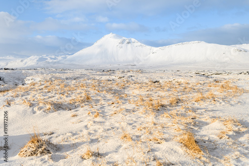 Papiers peints Beige amazing countryside landscape of iceland