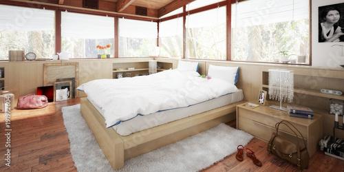 Schlafzimmer im Patio (panoramic)