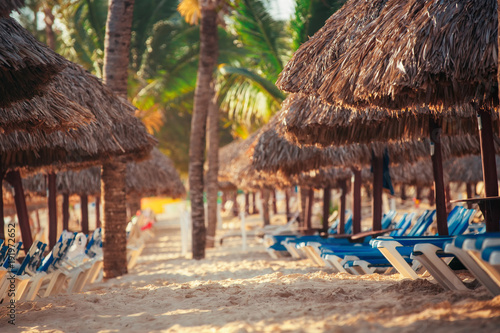 Foto op Canvas Tropical strand Tropical Beach Resort in Punta Cana, Dominican Republic