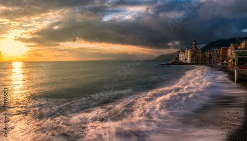 Poster Liguria Camogli after the bad weather