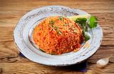 Healthy fresh long grain rice tomato pilaf - 191978825