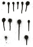Spray Paint High Detail Drip Dots Abstract Vector Backgrounds Set 01 - 191979221