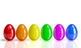 colorful 3d eggs - 191982610