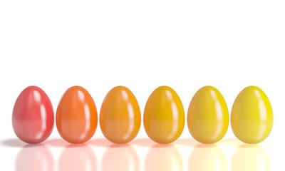 gradation easter eggs