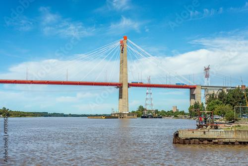 Fotobehang Buenos Aires Zarate Brazo Largo Bridge, Entre Rios, Argentina