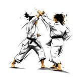 Karate Action 5 Wall Sticker