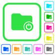Close directory vivid colored flat icons