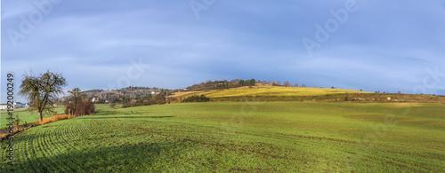 Foto op Plexiglas Panoramafoto s rural landscape in Bad Frankenhausen
