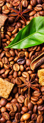 Coffee roasted bean.Coffee background